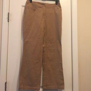 a830c0ac4ba Liz Claiborne Audra Khaki Pants Size 8 petite EUC
